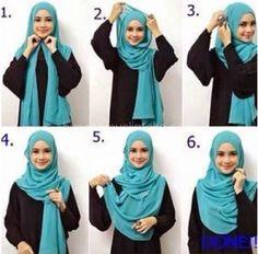 Beautiful Hijab Tutorial For The Round Face Beautiful Hijab Tutorial For The Ro. - Beautiful Hijab Tutorial For The Round Face Beautiful Hijab Tutorial For The Round Face Hijab Musulman, Beau Hijab, Hijab Mode, Muslim Hijab, Hijab Outfit, Square Hijab Tutorial, Simple Hijab Tutorial, Hijab Style Tutorial, Scarf Tutorial