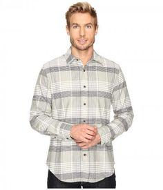 Nautica - Long Sleeve Large Plaid Oxford (Seashore Grey) Men's Clothing
