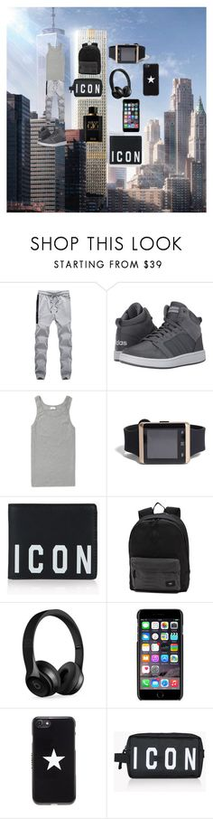 """Untitled #241"" by reka15 on Polyvore featuring adidas, Schiesser, 21 Men, Dsquared2, Vans, Beats by Dr. Dre, Dolce&Gabbana, Givenchy, Giorgio Armani and men's fashion"