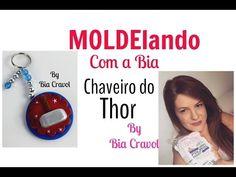 MOLDElando com a Bia- Chaveiro do Thor - tema Vingadores - Bia Cravol - YouTube
