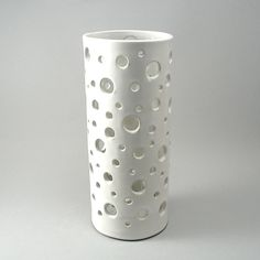 Bubble Vase, White Glaze by Cheryl Wolff: Ceramic Vase available at www.artfulhome.com