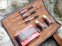 Medieval/Larp/SCA/Pagan/Re enactment/Gothic/Steampunk/Wicca LEATHER WRITING SET