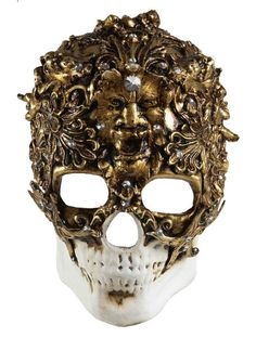 ► Skull Venetian Mask -Wickedly Cool