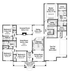 I like this floor plan. I would change the bedroom by the front foyer into a library and change the entrance -  4/3 w/ bonus, separate master closets, walk-ins in all bedrooms- good for lot