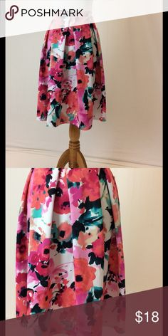 Watercolor floral midi skirt Beautiful watercolor midi skirt with pleating. Charlotte Russe Dresses Midi