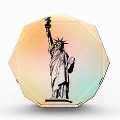 Statue of Liberty Acrylic Award #StatueOfLiberty #Statue #Liberty #Freedom #NewYork #EllisIsland #Immigrant #Refugee #USA #Award