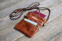 Mini Bag For Travel Document. Organizer with Zippers and by HAPPER