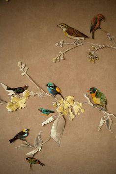DIY interior paper collage wall art by Tinttu Henttonen.