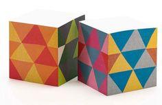 Triangles Sticky Note Cube   Ilee