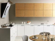 Tammea ja valkoista Favorite Color, Kitchen Cabinets, Table, Furniture, Home Decor, Colors, Restaining Kitchen Cabinets, Homemade Home Decor, Kitchen Base Cabinets