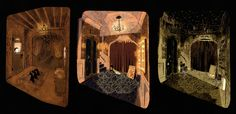 Coraline concept art - Laika - 3 versions of the basement apartment
