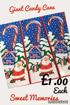Giant Sized Chriatmas Candy Canes £4.00 each
