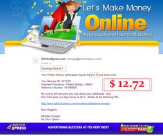 Best of the Best! The Simple Way to Make Money,I get paid daily and I withdraw daily. Join me http://www.adclickxpress.com/?r=478bbh5bzv5n&p=aa  Most people throughout the world are not satisfied with their job or the amount of income they earn. If that pertains to you, now you can do something about it,because the ACX System can easily make up the difference you lack each month. You can become the boss of your own ACX business. And,you decide how much to pay yourself. Just get started with…