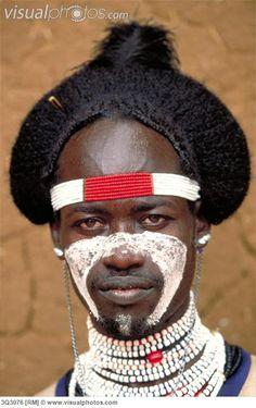 Africa | Man of the Hamar tribe. Turmi, Ethiopia. | © Art Wolfe.