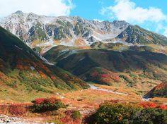 10月3日立山の紅葉 北アルプス登山ルートガイド。Japan Alps mountain climbing route guide