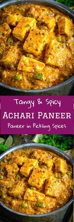 Achari paneer is an Indian cottage cheese curry made using pickling spices. Slightly tangy and full of flavors, this curry goes perfect with Indian breads. South Indian Breakfast Recipes, Indian Veg Recipes, Paneer Recipes, Curry Recipes, Organic Recipes, Asian Recipes, Vegetarian Recipes, Indian Breads, Indian Dishes