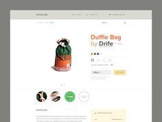 Clean, Minimal E-Commerce Product Page Design for Monoqi Ecommerce Web Design, Web Ui Design, Love Design, Design Campaign, User Experience Design, Website Design Inspiration, User Interface Design, Ui Ux, Product Website
