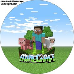 Minecraft - Kit Completo com molduras para convites, rótulos para guloseimas, lembrancinhas e imagens! Minecraft Crafts, Candy Minecraft, Minecraft Party Decorations, Minecraft Images, Easy Minecraft Houses, Hama Beads Minecraft, Minecraft Pixel Art, Minecraft Printable, Minecraft Bedroom