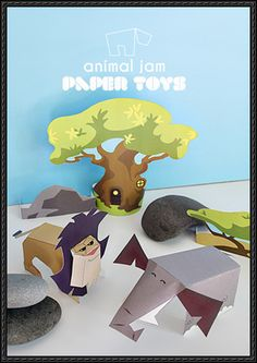 Animal Jam - Appondale Free Paper Toy Download - http://www.papercraftsquare.com/animal-jam-appondale-free-paper-toy-download.html