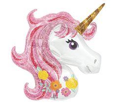 """Magical Unicorn Balloon - 33"""" Foil Mylar"""