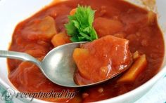 Paradicsomos krumpli Chana Masala, Thai Red Curry, Clean Eating, Veggies, Food And Drink, Ethnic Recipes, Eat Healthy, Vegetable Recipes, Healthy Nutrition