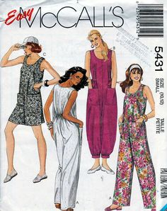 bb5ec906f54 RARE McCall s Sewing Pattern 5431 c1991 Loose Fitting Jumpsuit
