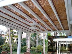 Pergolado de madeira e forro de bambu - #cobrire #pérgola #pergolado #deck #forro #gourmet #forrodebambu #bambu #madeira #design #arquitetura #paisagismo #decoração #decor #architecture #archilovers #architect #wood #landscape #outdoors #style #life #lifestyle #sun #summer #arq #bamboo #nature