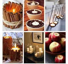 Yumm  cinnamon, apple, coffee bean candles