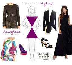 Body Shape Styling Hourglass - learn how to dress for your hourglass figure - http://www.stylehunter.com.au/style-news/body-shape-styling-hourglass-2