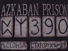 I used this to make our Azkaban Prison sign for our photo booth. I cut it out and then, using adhesive spray glue, attached it to poster board.