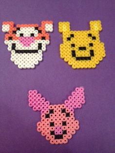 Winnie, Tigger and Piglet hama beads by TheMissBlue