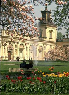 Wilanow Palace and Park in Warsaw