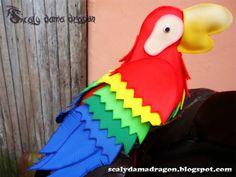 Guacamaya Hecha de Foamy (Goma Eva) | Manualidades para Exteriores