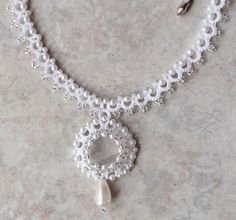 West Pine Creation: necklace from her Bridal Collection