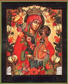 Orthodox icons, Byzantine icons, Greek icons - Religious icons: Theotokos the Sweet Flower