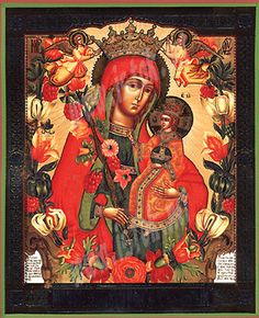 Orthodox icons, Byzantine icons, Greek icons - Religious icons: Theotokos the Sweet Flower