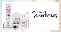 Join the IT Girl Superheroes!  Become an IT Girl Superhero to share your love of IT Cosmetics (and win prizes along the way!). Click here to sign up and start earning points toward prizes! #entry