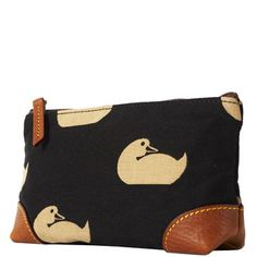 Love Dooney- the fabric ducks are my fav. Designer Wallets, Makeup Bags, Travel Accessories, Dooney Bourke, Ducks, Cosmetic Bag, Fabric Design, Printing On Fabric, Addiction