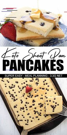 Eating Diet Breakfast Want an easy way to serve a healthy keto breakfast? Try my low carb sheet pan pancakes. Light and fluffy and so much better than standing there flipping pancakes one by one! Kids love them with a few chocolate chips scattered on top. Keto Friendly Desserts, Low Carb Desserts, Low Carb Recipes, Bread Recipes, Keto Diet Breakfast, Breakfast Recipes, Dessert Recipes, Breakfast Bars, Healthy Low Carb Breakfast