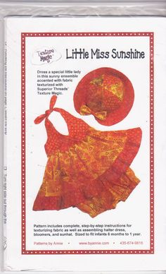 Sewing pattern for infant girls halter dress by beththebooklady, $9.99