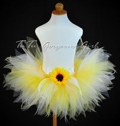 Yellow Summer Sunflower TutuBirthday Dance by TutuGorgeousGirl, $28.00  Emily this would be so cute for future flowergirls