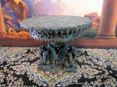 Gargoyle Garden Table dollhouse miniature in 1/12 by DarkSquirrel