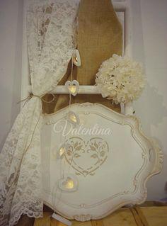 Χειροποίητος Ιταλικός Δίσκος με καρδία! Our Wedding, Wall Lights, Home Decor, Appliques, Decoration Home, Room Decor, Interior Design, Home Interiors, Interior Decorating
