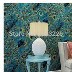 Wholesale Modern Peacock Wallpaper Paper Wall Paper 3d Roll Gold Bordered For Living Room Bedroom Tv Backdrop Blue .Papel De Parede Sala.P Free Hd Desktop Wallpaper Free Hd Desktop Wallpapers From Sebastiani, $78.85| Dhgate.Com