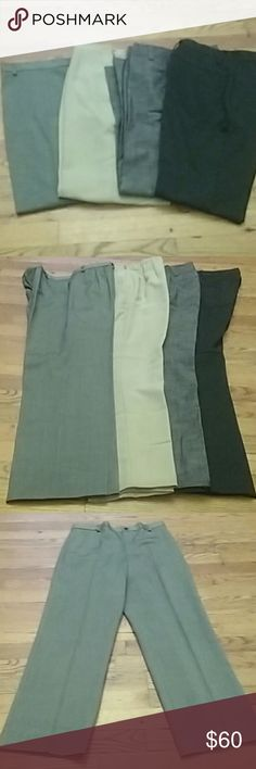 4 pairs of womens dress pants All in excellent condition, no rips, no stains. The brands are Rafaella, New Directions, and FreePort. The inseam is 31 inches Rafaella Pants Trousers