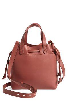 madewell mini transport leather drawstring tote