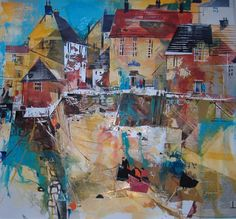 Polperro Quay (Polperro Cornwall) - Painting by Surrey Artist Nagib Karsan (Cranleigh Art Group, Dorking Art Group & Guildford Art Group) - Painting Commissions Invited