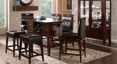 picture of Julian Place Chocolate 5 Pc Counter Height Dining Room from  Furniture