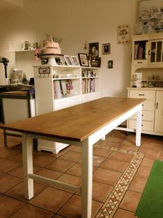 tisch antik alt shabby chic weichholz vintage esstisch k chentisch grau in m bel wohnen m bel. Black Bedroom Furniture Sets. Home Design Ideas
