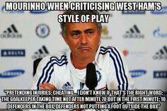 Hypocrite #Mourinho #NegitiveFootball